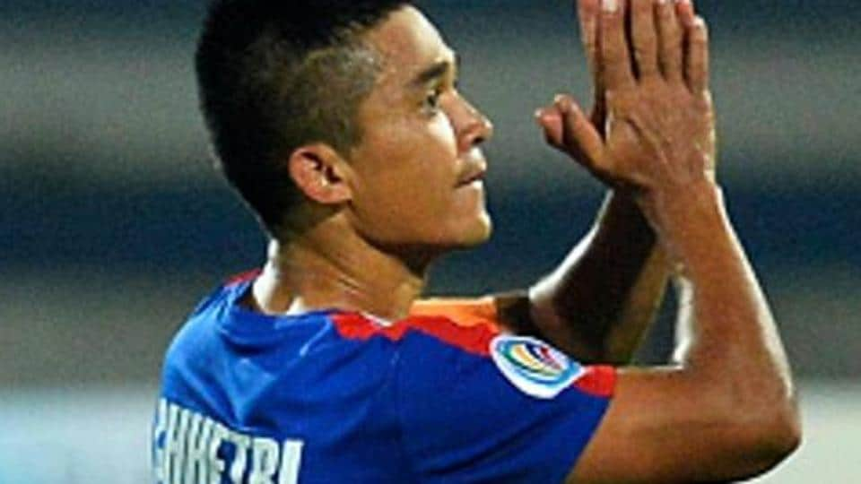 Sunil Chhetri is the all-time top goalscorer for the India national football team, with 54 goals in 94 games.