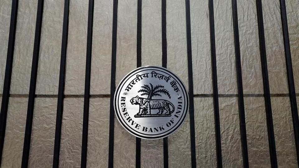 A Reserve Bank of India (RBI) logo is seen at the entrance gate of tts headquarters in Mumbai, India June 7, 2017.