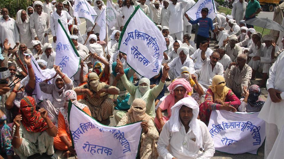 Farmer agitation,Haryana,Rajasthan