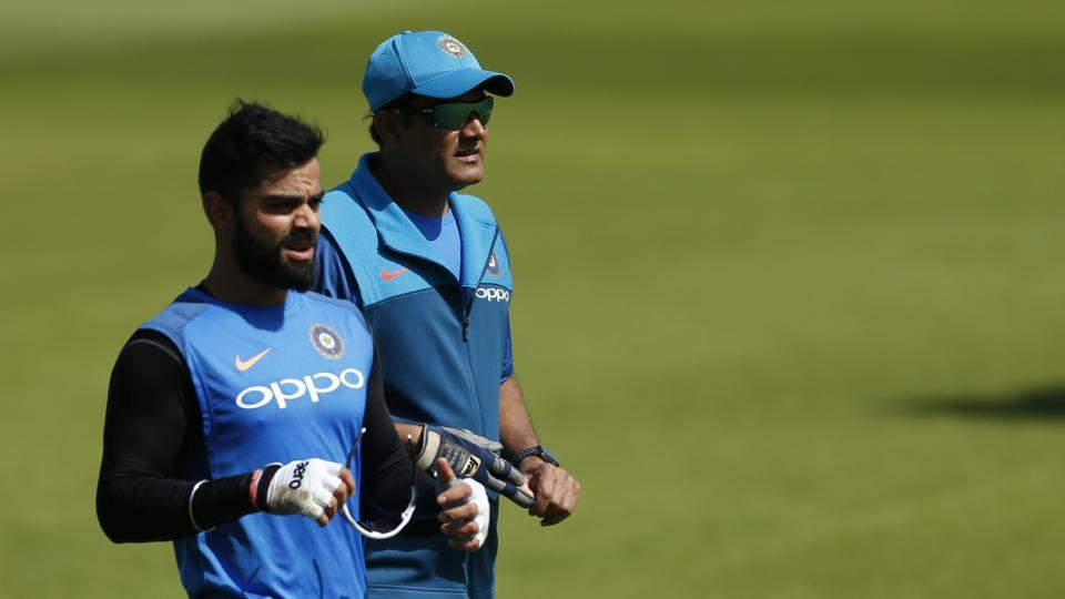 Will Anil Kumble (R)continue as Indian cricket team's coach is the big question.