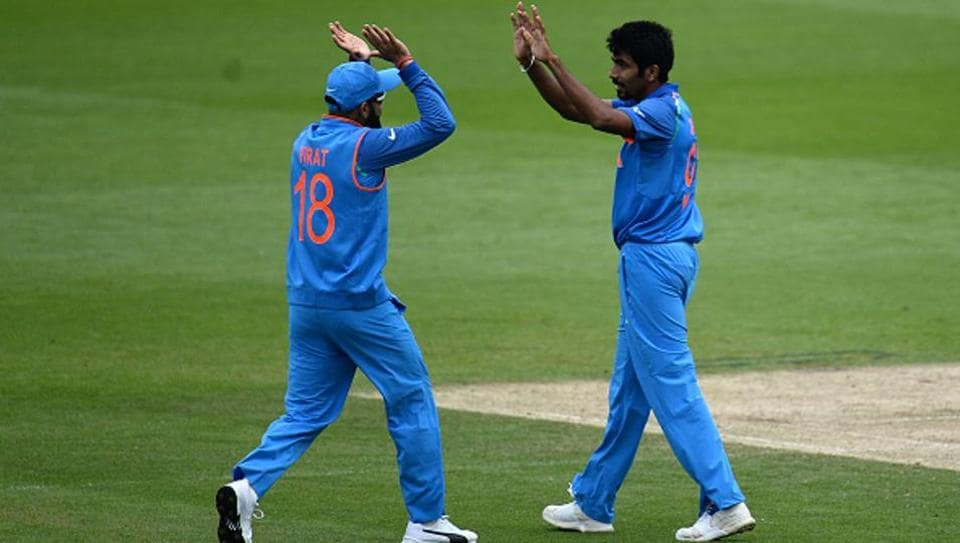 Jasprit Bumrah (R) is India's second highest wicket-taker in ICC Champions Trophy so far.