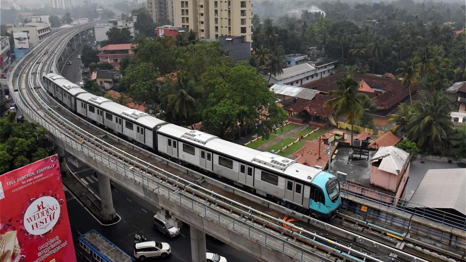 The final service trial run of the Kochi Metro. Apart from offering mobility solution, the Kochi metro also plans to offer boat rides with water transport envisaged as a feeder service to the rail corridor.