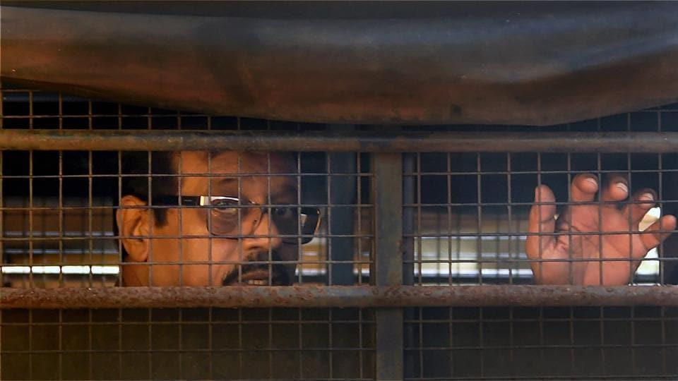1993 Mumbai blasts case accused Mustafa Dossa being taken to the special TADA court from Taloja Central Jail, in Mumbai.