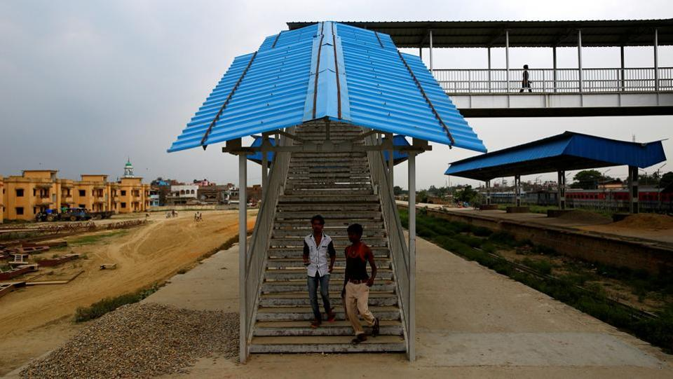 Construction is nearly 80 percent complete, with stations and bridges built, and land levelled to lay tracks, extending the track to Bardibas in the north, a distance of 69 km (43 miles) away, with a total of 14 stations on the route. (Navesh Chitrakar / REUTERS)