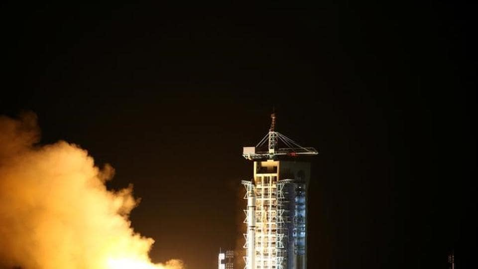 World's first quantum satellite launched in Jiuquan, Gansu Province, China.