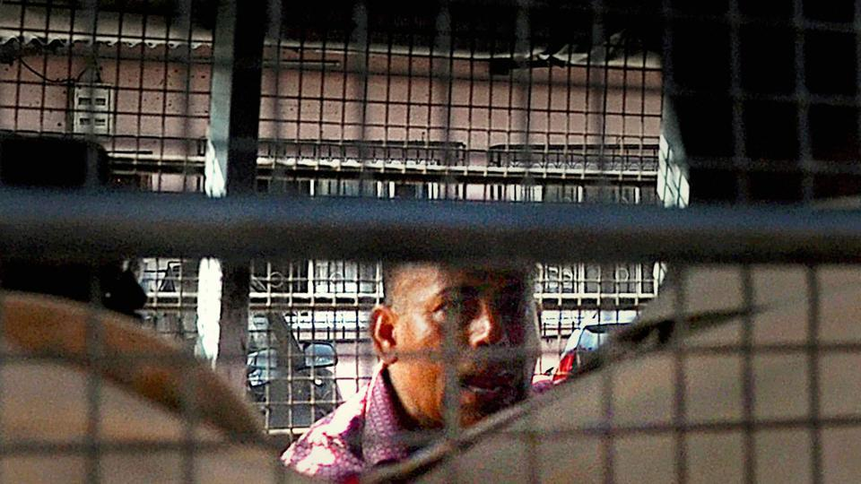 Gangster Abu Salem being taken to Taloja Central Jail after a special TADA court convicted him in the 1993 Mumbai blasts case, in Mumbai on Friday.