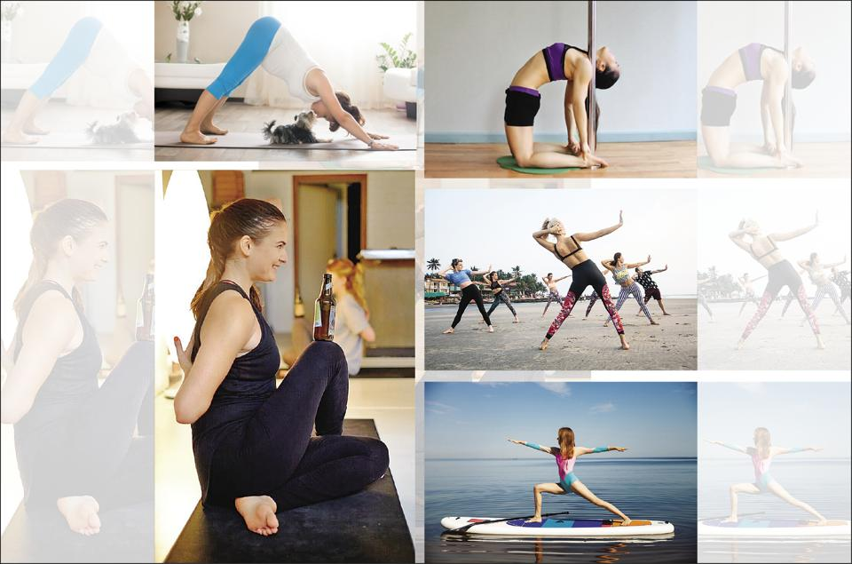 From pole yoga to paddleboard yoga, here's a peek into some of the quirkiest asanas