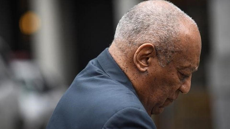Actor and comedian Bill Cosby arrives at court on the sixth day of deliberations in his sexual assault trial at the Montgomery County Courthouse in Norristown, Pennsylvania.