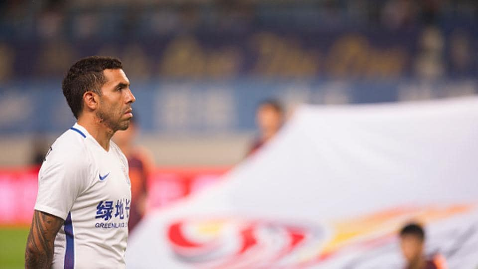 Carlos Tevez who plays for Shanghai Shenhua was picked up by the Chinese Super League (CSL)during the last transfer window in February this year.