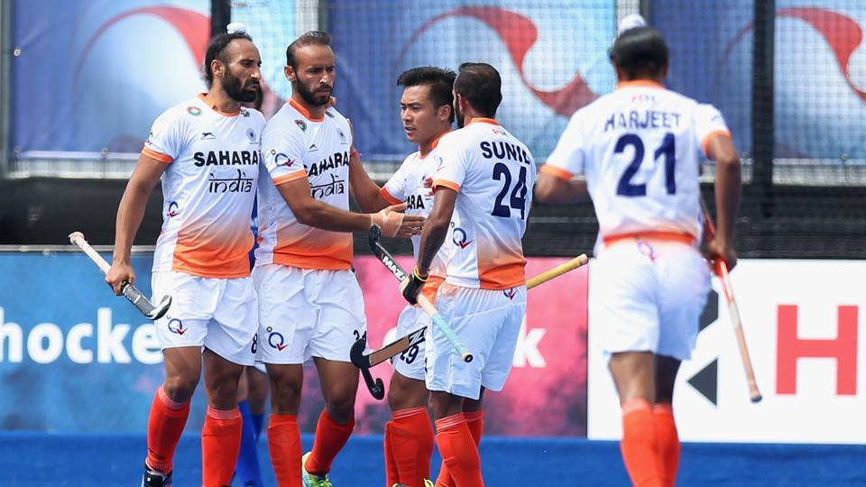 India defeated Canada 3-0 in the Hockey World League Semi-Finals in London on Saturday.