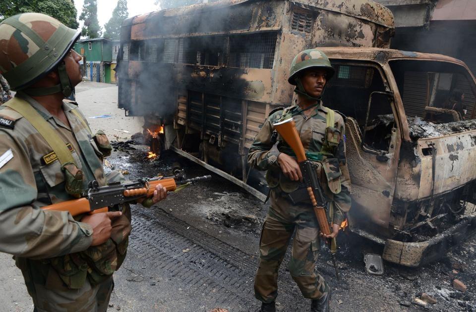Darjeeling unrest,Army withdrawn,GJM