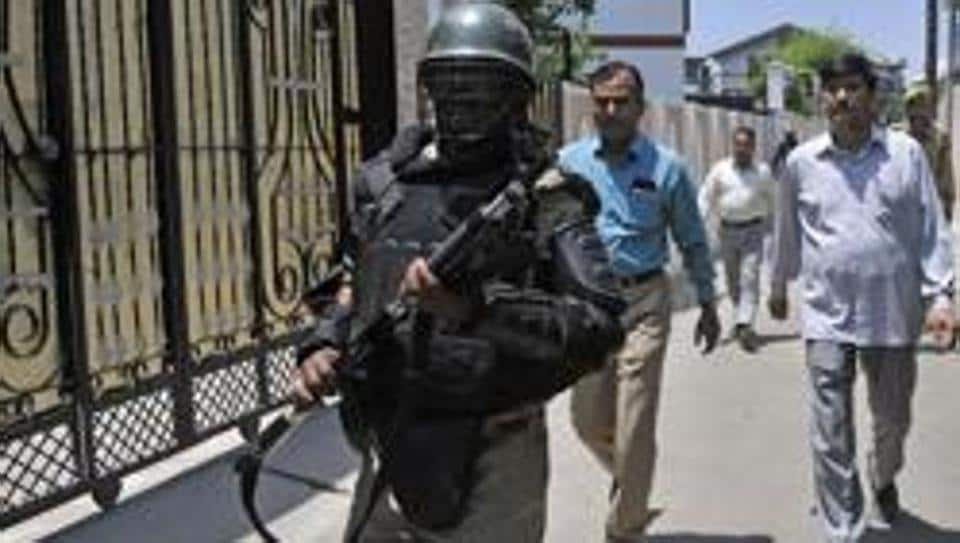 In this file photo, NIA team conducts raids at the residence of a prominent businessman in Sanat Nagar, Srinagar. Earlier this month, NIA had searched homes and offices of separatist leaders over terror funding in the Valley.