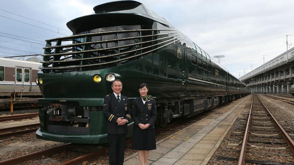 Japan super-deluxe train,tickets cost $20000,Twilight Express Mizukaze