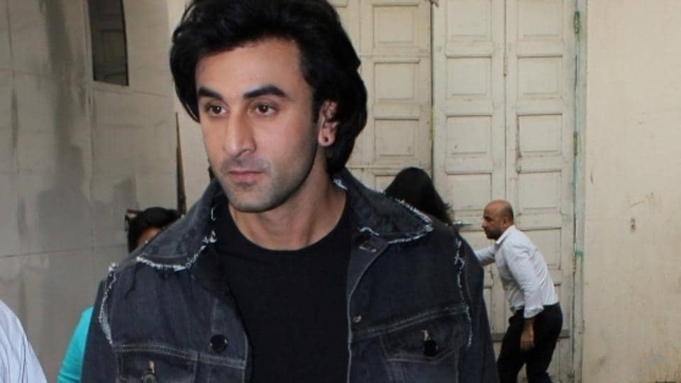 Ranbir Kapoor during the promotion of Jagga Jasoos at Mehboob Studio, in Mumbai.
