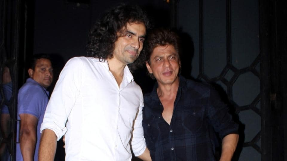 Actor Shah Rukh Khan and filmmaker Imtiaz Ali snapped at The Korner House party in Mumbai.