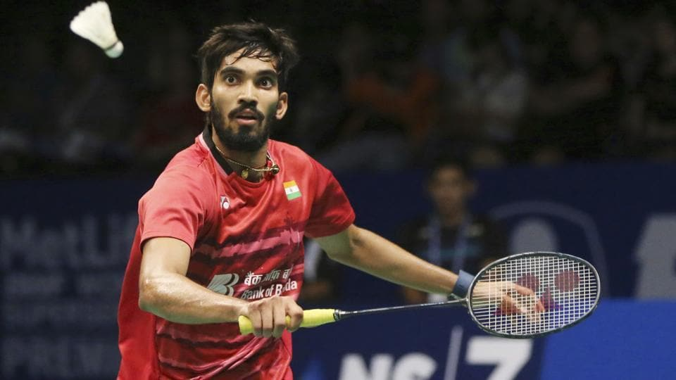 India's Srikanth Kidambi plays against South Korea's Son Wan-ho during their men's singles semi final at Indonesia Open in Jakarta on Saturday.