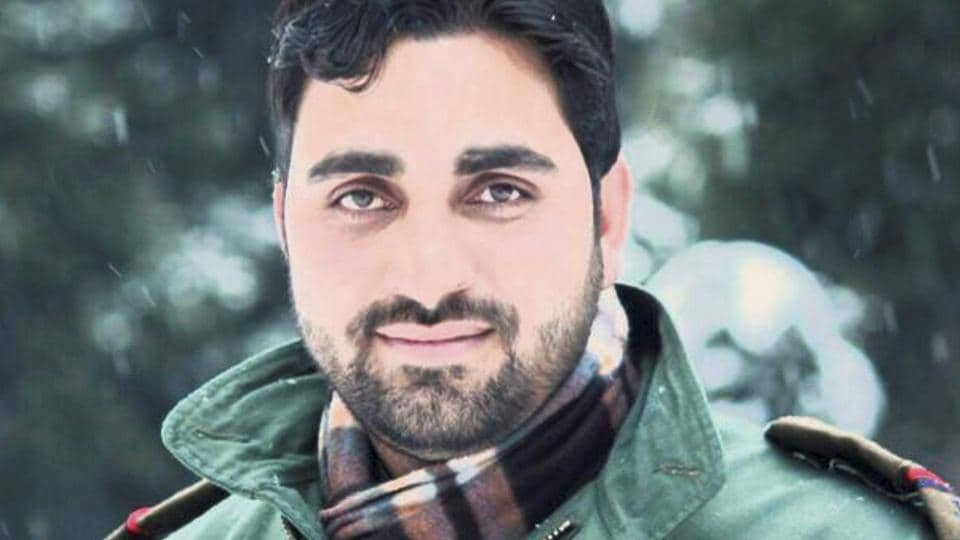 """File photo of sub-inspector Feroz Ahmed Dar who was killed at Achabal in Anantnag district on Friday.  Nicknamed Dabang (daring) and a """"one-man army"""" by his friends, Dar wished for the situation in Kashmir to return to normal."""