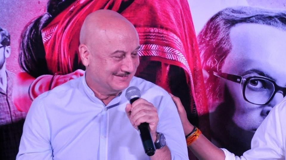 Anupam Kher during trailer launch of Indu Sarkar.