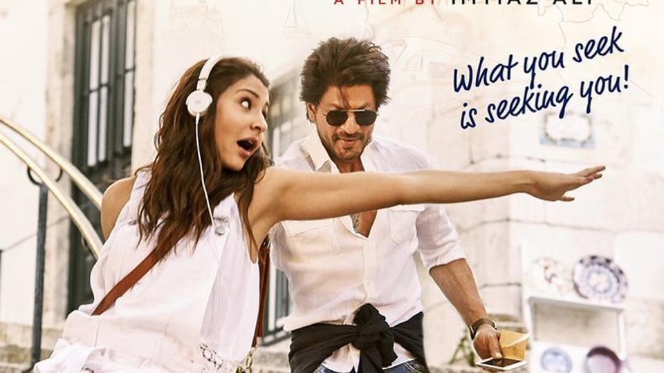 Anushka Sharma and Shah Rukh Khan on the poster of Jab Harry MetSejal.