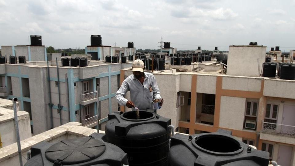 Domestic breeding checkers visit houses in the locality assigned to them and check desert coolers and water tanks check for mosquitoes breeding.