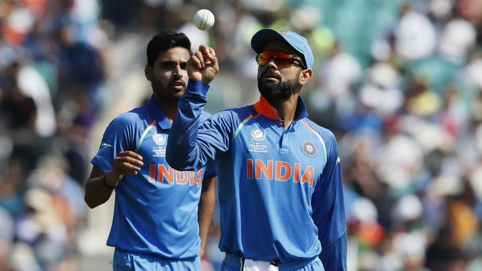 Indian skipper Virat Kohli won the toss and chose to bowl in the final of the ICC Champions Trophy 2017. (AP)