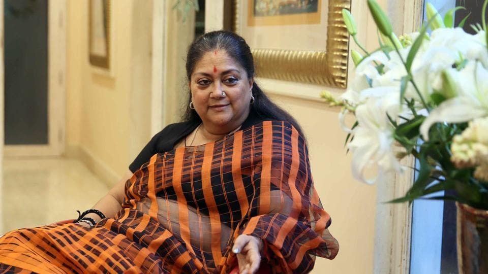 File photo of Rajasthan chief minister Vasundhara Raje whose tweet on  Friday's lynching in Pratapgarh has come under fire.