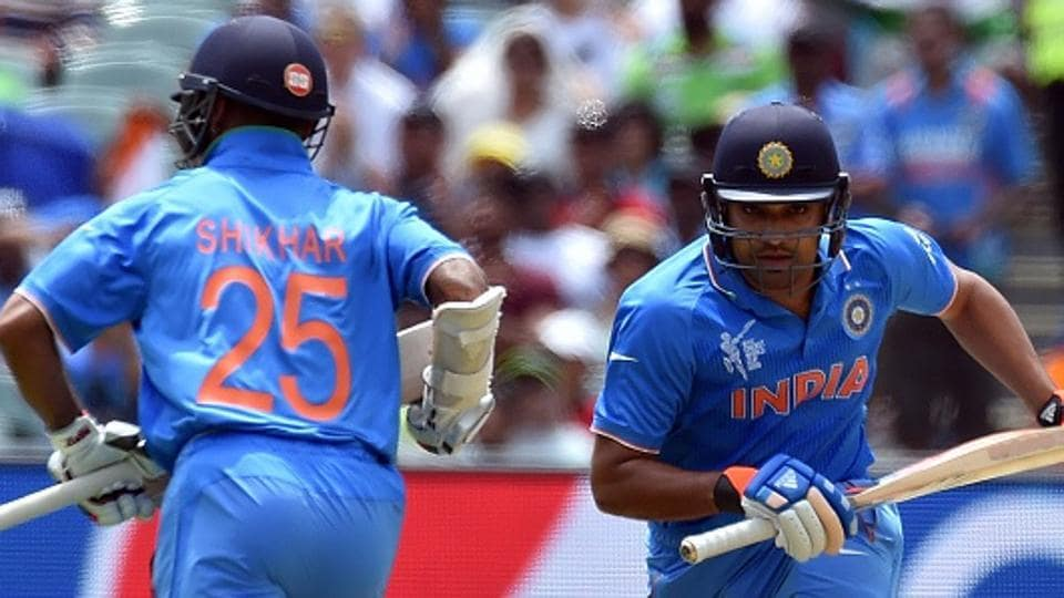 Both Indian cricket team openers -- Rohit Sharma and Shikhar Dhawan (L) -- have been in form and Virat Kohli would be banking on them to give the side a good start in the ICC Champions Trophy final against Pakistan cricket team.