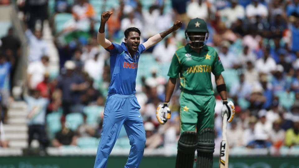 Hardik Pandya finally got the big wicket of Zaman for 114 as India attempted a fightback. (REUTERS)