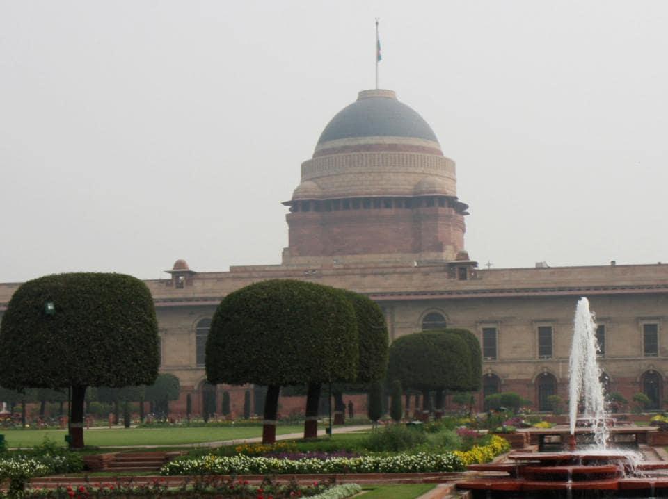 Rashtrapati Bhavan in New Delhi.