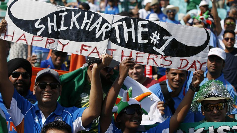 The match was played on Father's day and there were several fans who used this as a banter in the contest between India and Pakistan. (REUTERS)