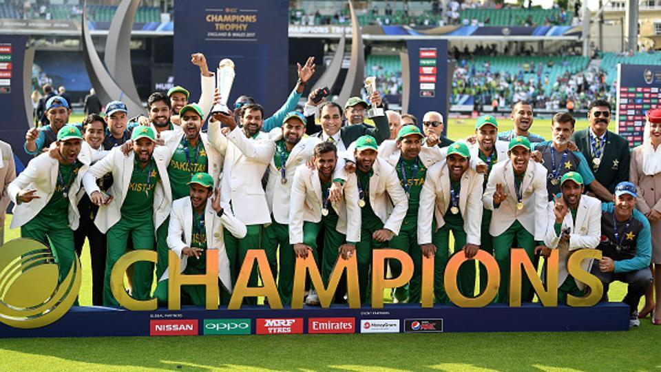 Pakistan thrashed India by 180 runs to win the ICC Champions Trophy title for the first time.  (Getty Images)