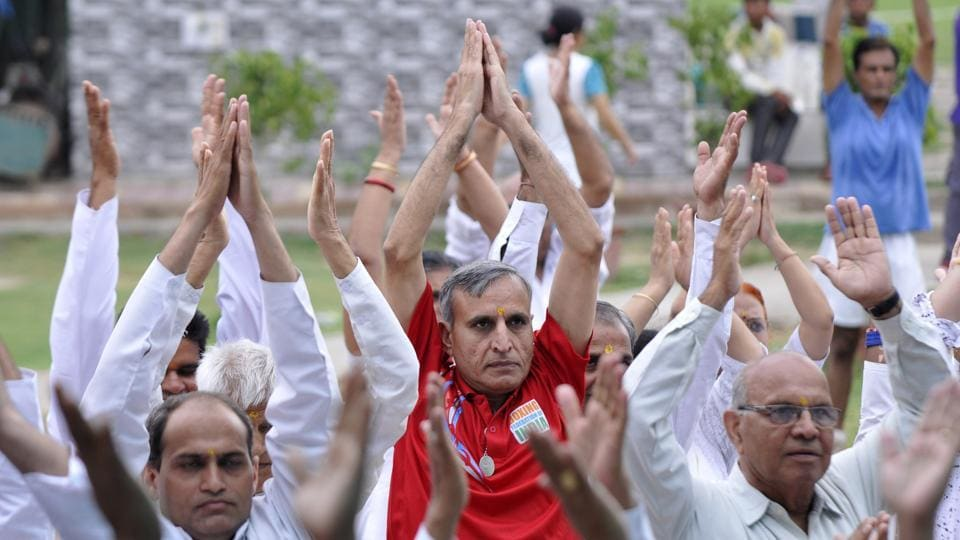 People from all age groups attended the camp. Prime Minister Narendra Modi and his government have been promoting yoga to encourage a healthy lifestyle.