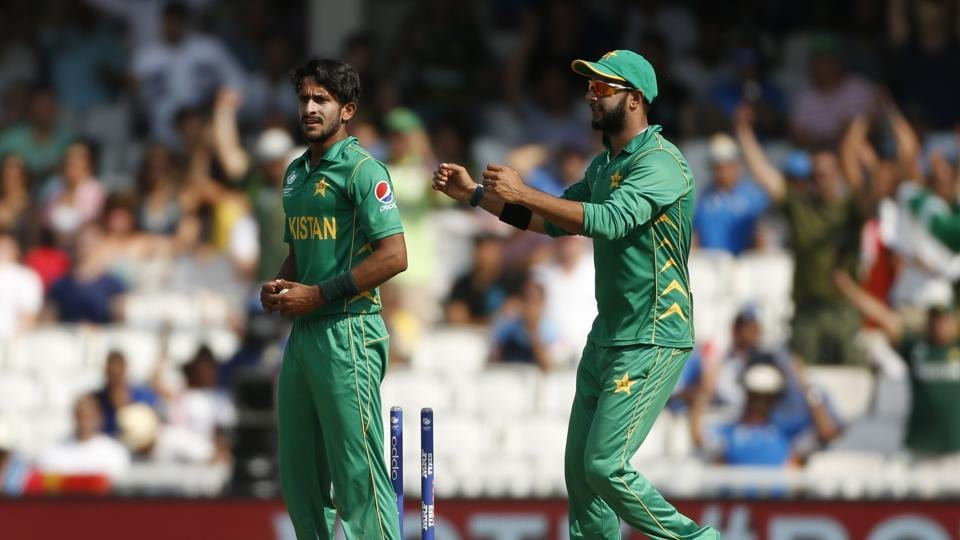 Hasan Ali continued his impressive run as he picked up the wicket of Dhoni. (REUTERS)