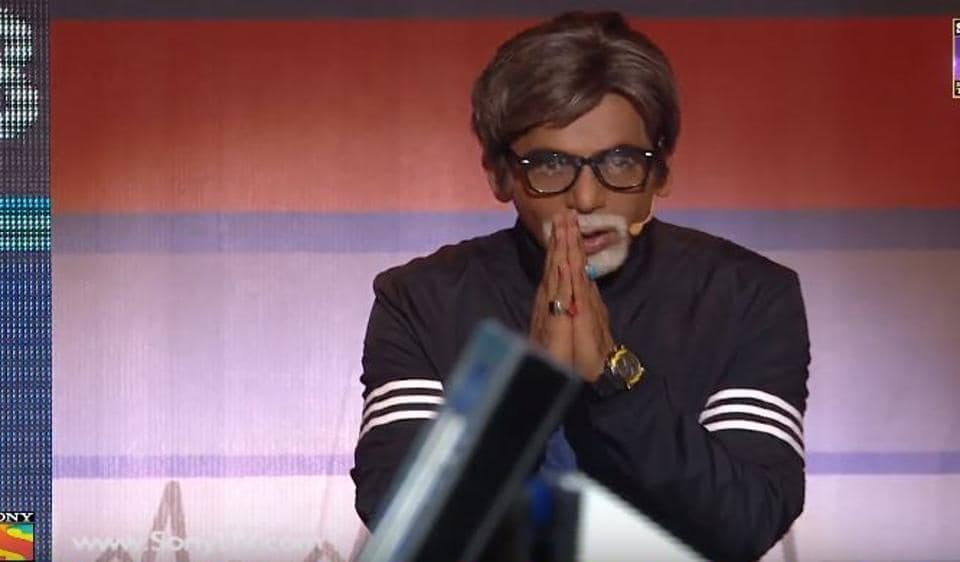 Sunil Grover as Amitabh Bachchan on Supernight with Tubelight, a special promotional programme, aired for the upcoming Salman Khan's film.