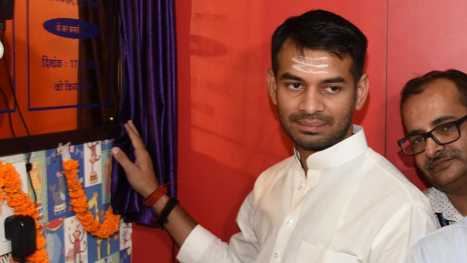 Bihar health minister Tej Pratap Yadav launching the 'temperature logger' in Patna on June 17, 2017.