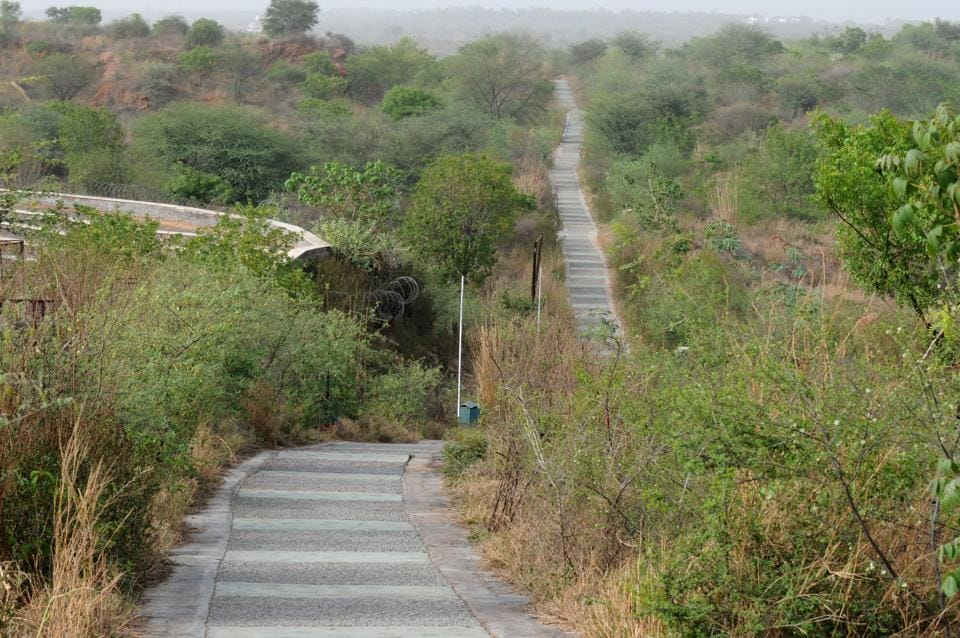 The Aravalli Biodiversity Park is spread over 70 acres.