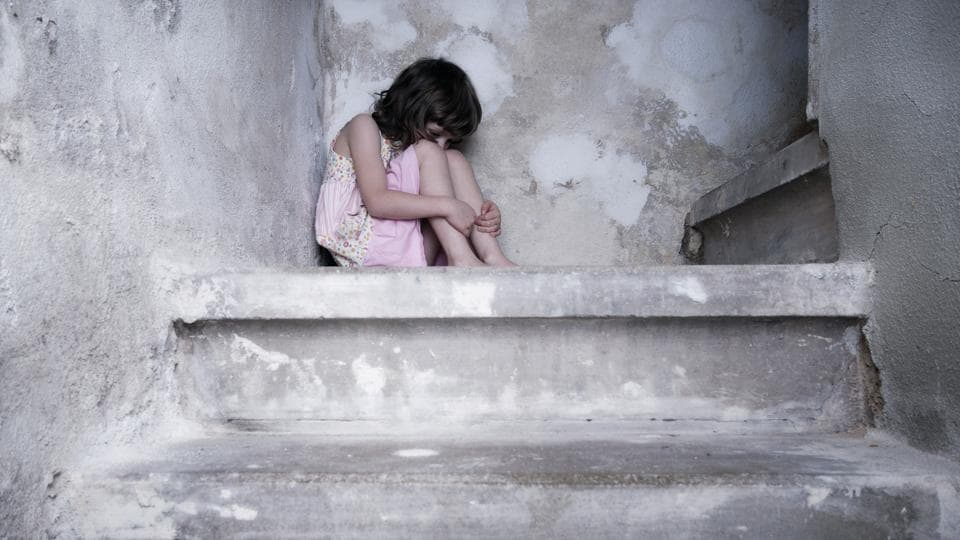 The girl was alone with her father in the house when the incident took place.