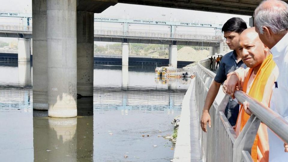 Gomti riverfront,UP Government,Yogi Adityanath