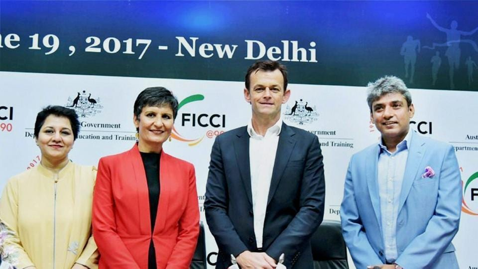 Adam Gilchrist spoke during the Australia-India Sports Partnership Meet about the need for a compromise between Cricket Australia and the Australian players.