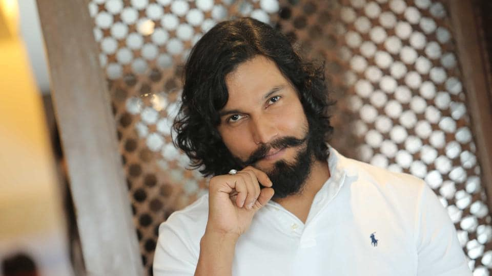 Randeep Hooda poses during an interview with Hindustan Times after launching Gym 99.