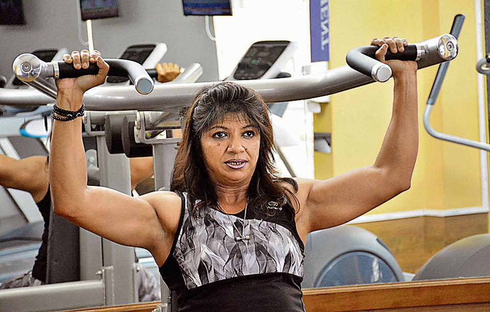 Sharmila Bhattacharya is making her mark in professional body building, considered a male-dominated field.