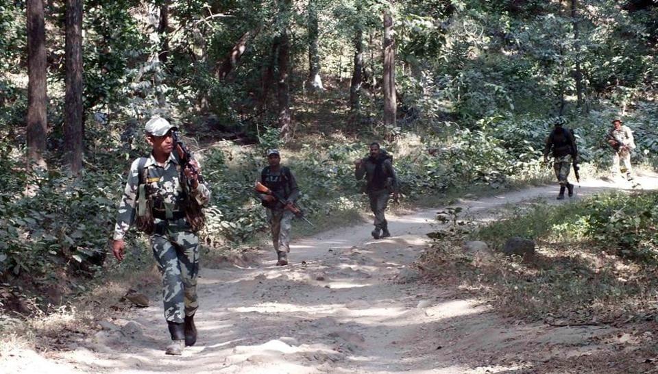 Representative Image | Paramilitary forces during an operation at Burha Pahar under Chippadohar police station area in Latehar.