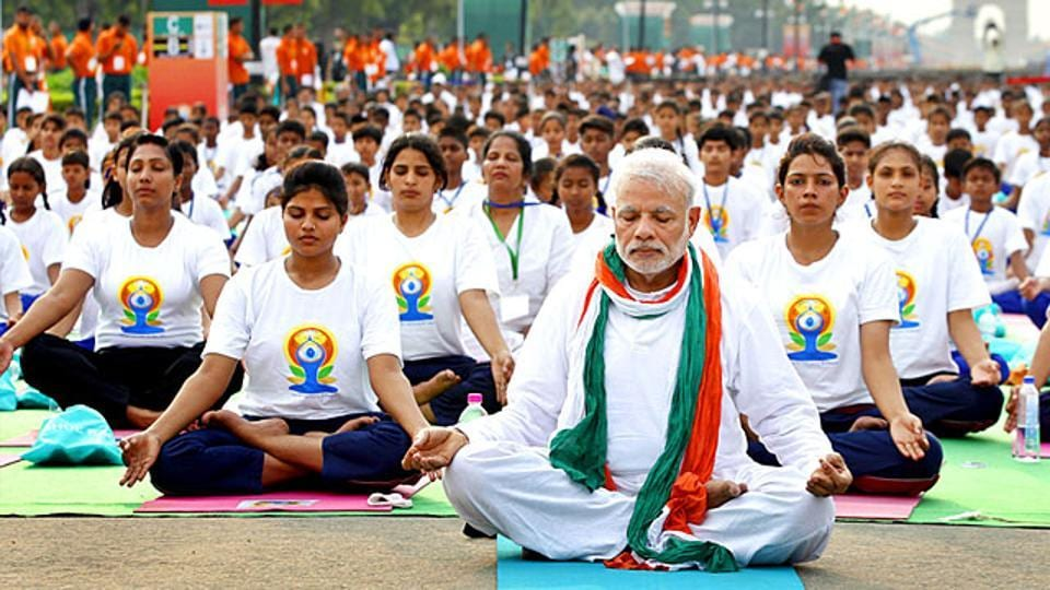 Prime Minister Narendra Modi joined nearly 37,000 fellow participants at Rajpath to mark the International Day of Yoga in 2015.