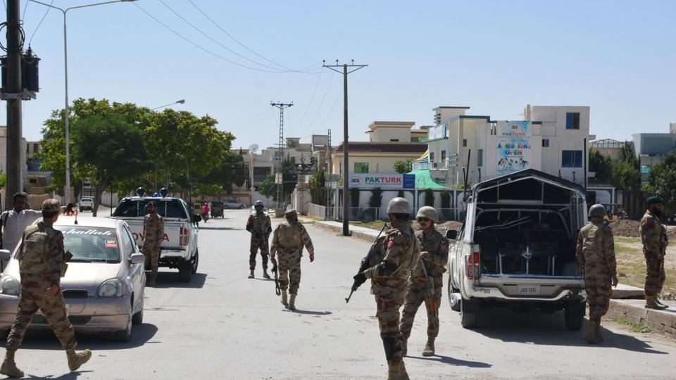 Security was tightened after the incident and a search operation was launched in the Jiwani area.