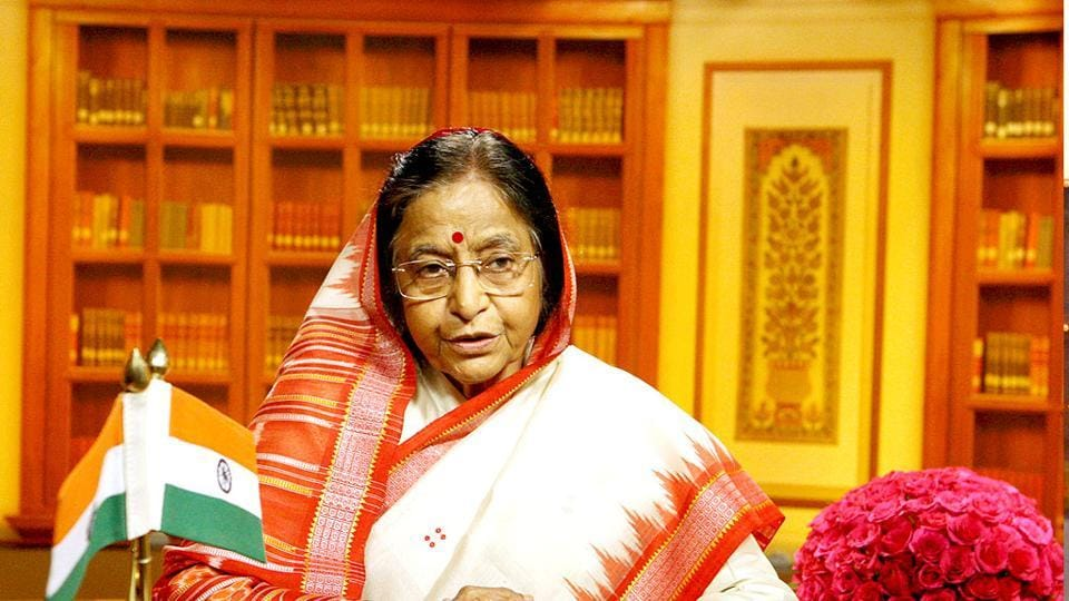 File photograph of former President Pratibha Patil who became the Head of State in 2007.