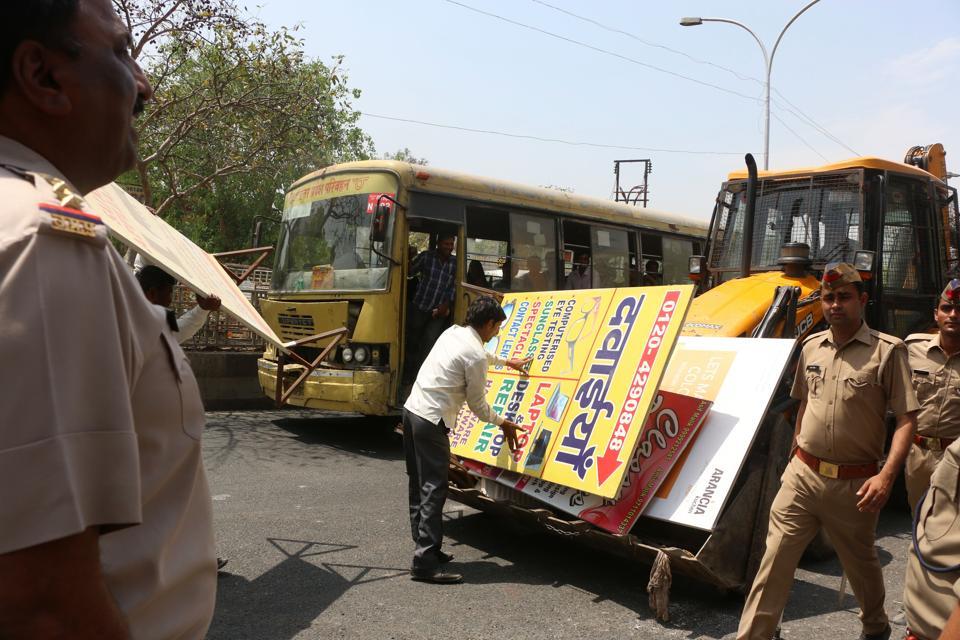 Noida,encroachment,land mafia