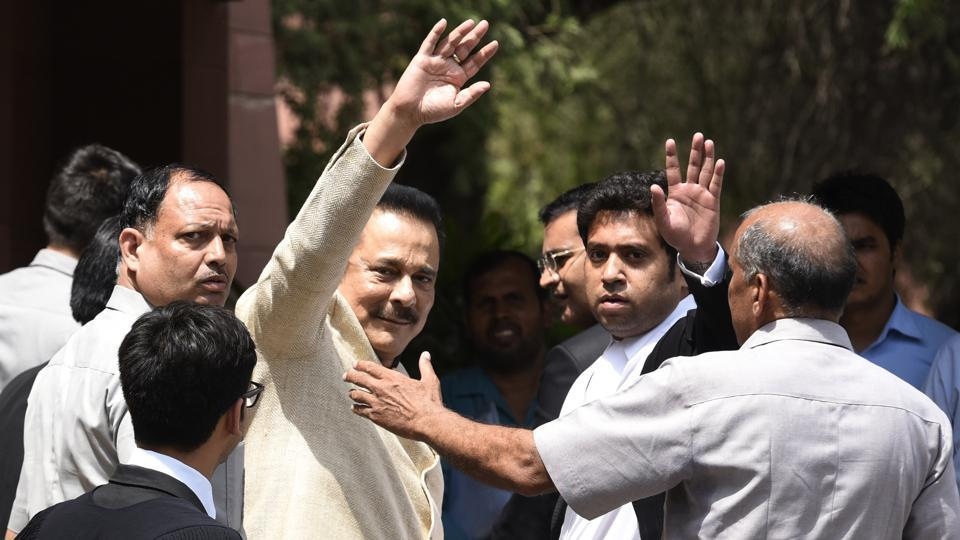 Subrata Roy, chairman of Sahara India at Supreme Court in New Delhi, India.