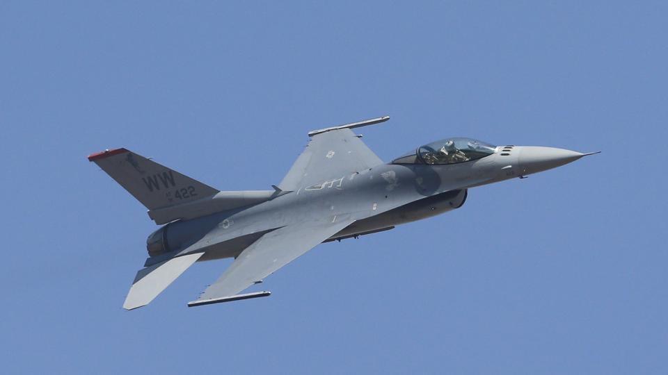 A file photo of a US fighter aircraft F-16 during the Aero India 2017 at Yelahanka air base in Bangalore.