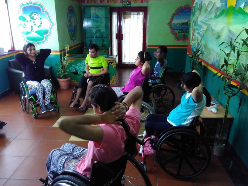 International Yoga Day,Yoga day,Wheelchair yoga