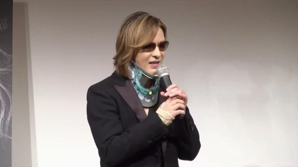Yoshiki still doesn't say he will give up headbanging altogether.